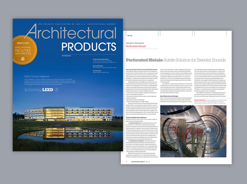 Architectural Products public relations work
