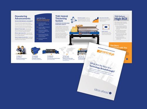 Centrysis sales and tradeshow brochure work
