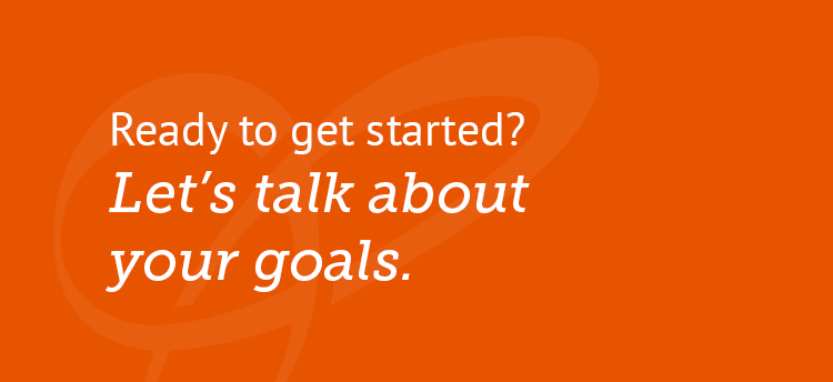 Trefoil let's talk about your goals call to action