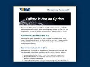 Metro Mold – Failure is not an Option