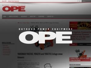 YARDMAX Featured in OPE