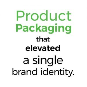Product Packaging that elevated a single brand identity.