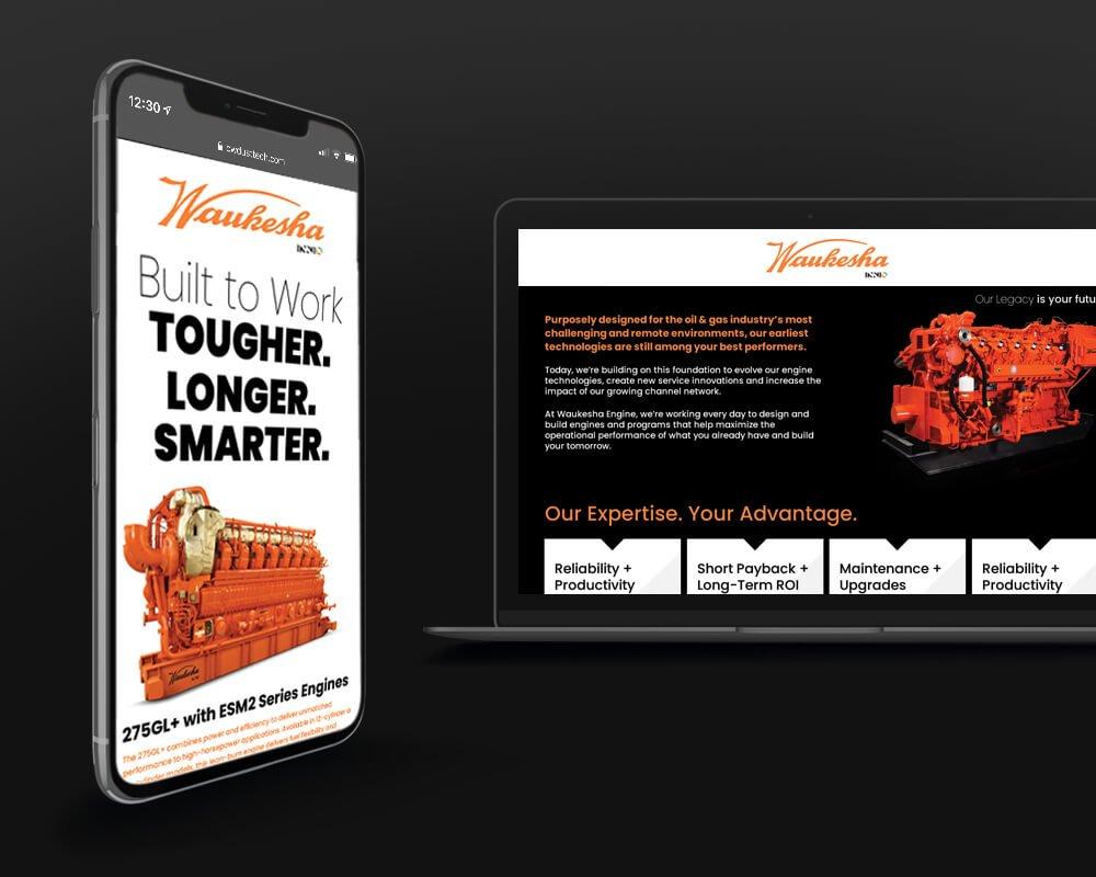 Waukesha Engine - Mobile + Laptop Display