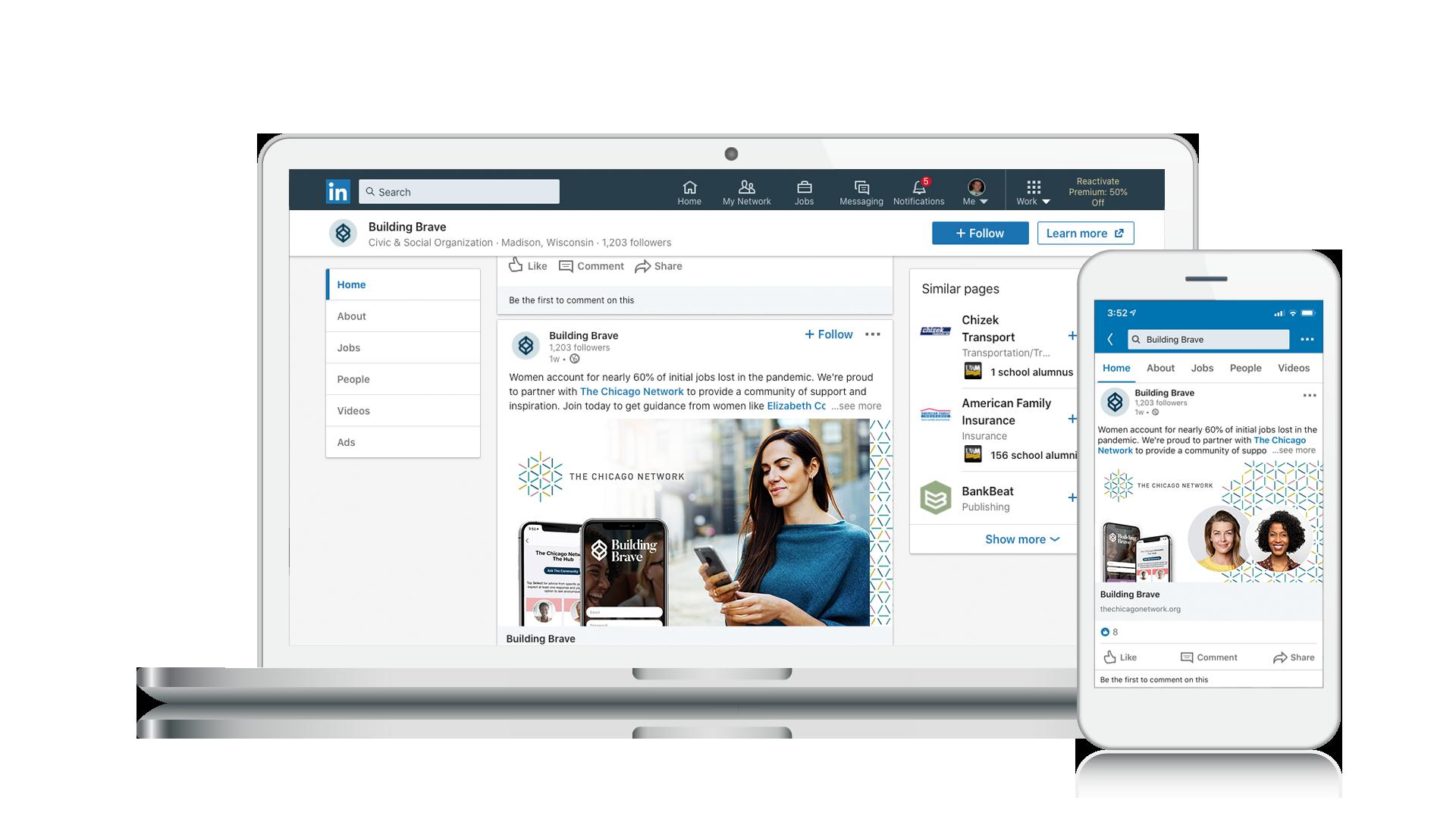 LinkedIn Screens