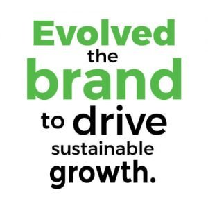 Evolved the brand to drive sustainable growth.