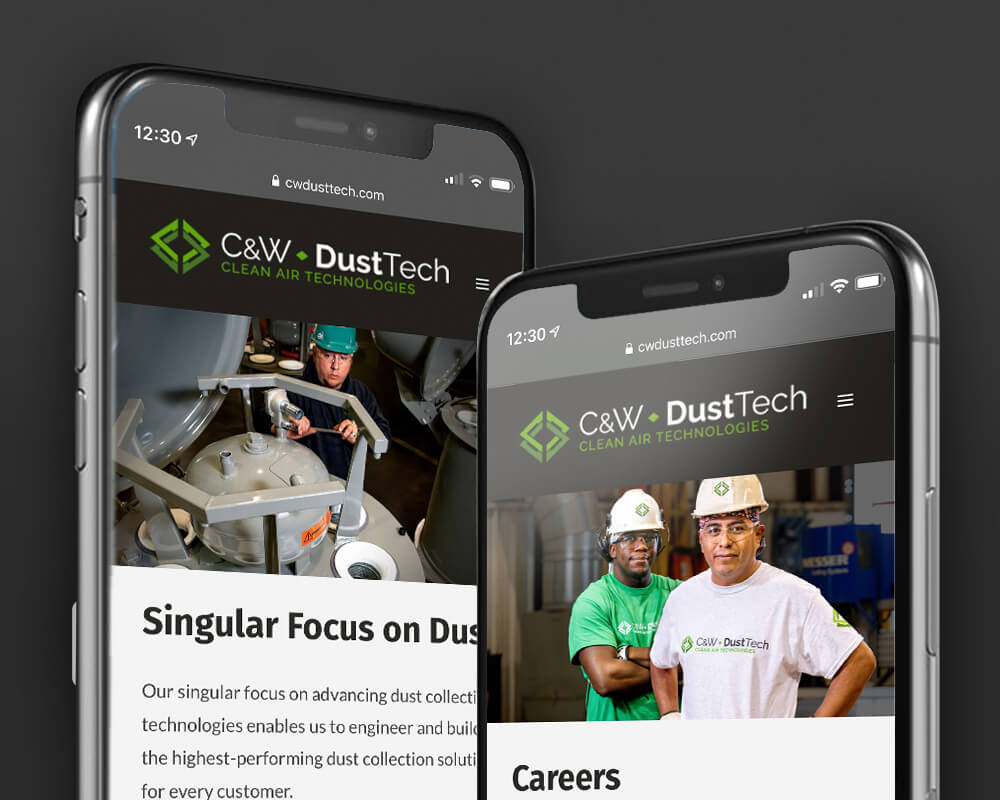 C&W DustTech Mobile Phone View