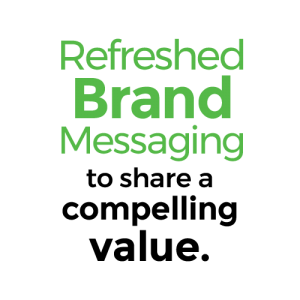 Refreshed Brand Messaging to share a compelling value.