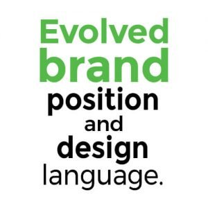 Evolved brand position and design language.